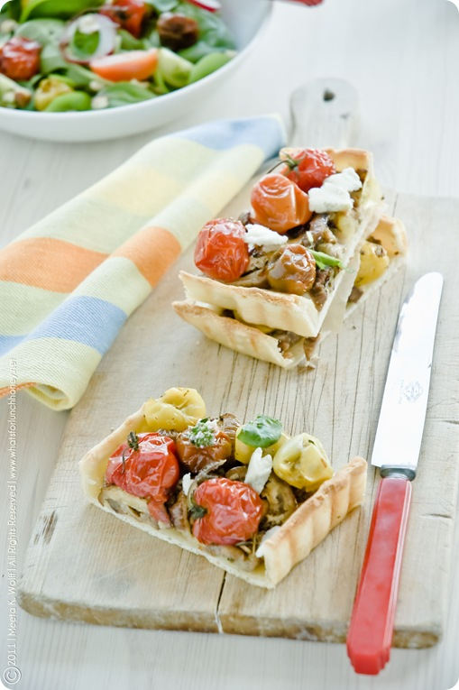 Roasted Tomato Aubergine and Tahini Tart (0012) by Meeta K. Wolff