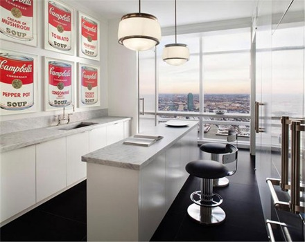 cocina-encimera-marmol-penthouse-de-lujo-Trump-World-Tower