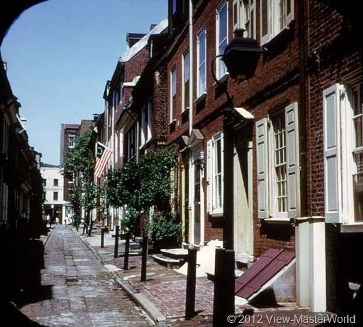 View-Master Philadelphia (A631), Scene 20: Elfreth's Alley