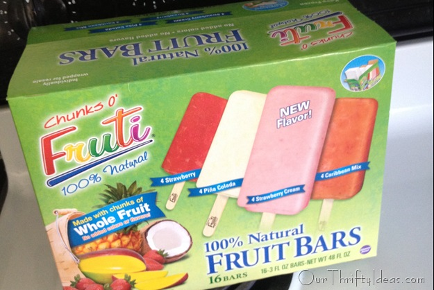 Chunks O' Fruti variety pack of popsicles #FreshNFruiti