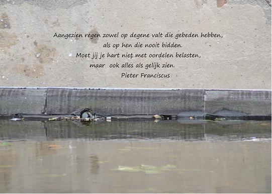 spreuken regen Pieter