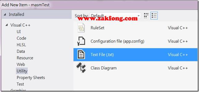 201201117-4-MASM-如何使用Visual Studio 2012開發組合語言-W