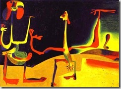 Miro - Man and a Woman in front of a pile of excrement