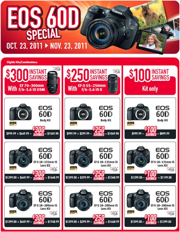 Canon 60D Instant Rebate