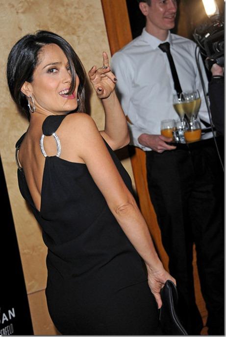 Salma Hayek Celebs Hogan Karl Lagerfeld Party TnKfpt6QyR2l