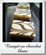 nougat au chocolat blanc, gateau sans cuisson