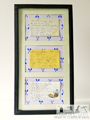 vintage recipe display