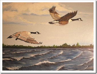 geese painting
