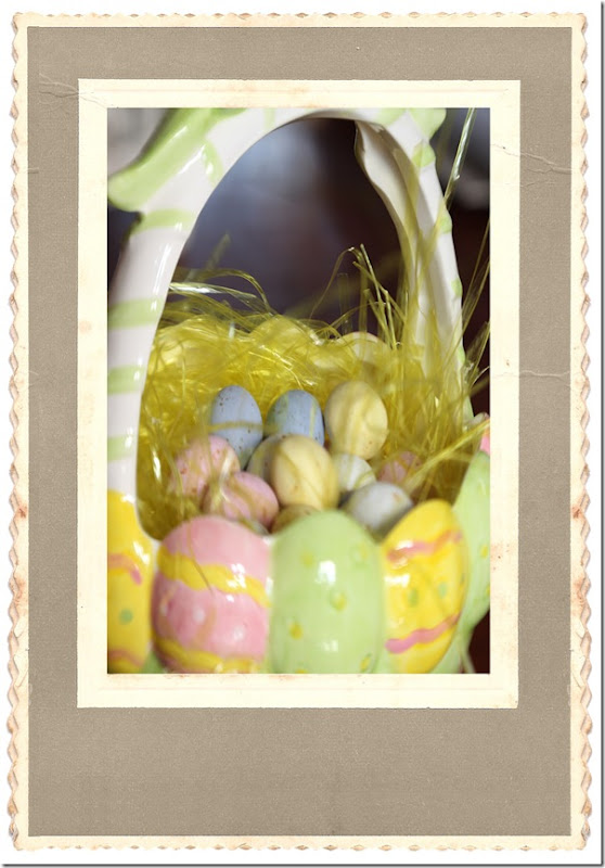 Easter basket in coffeeshop frame