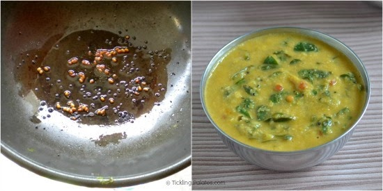 How to make Murungai keerai Poricha Kuzhambu