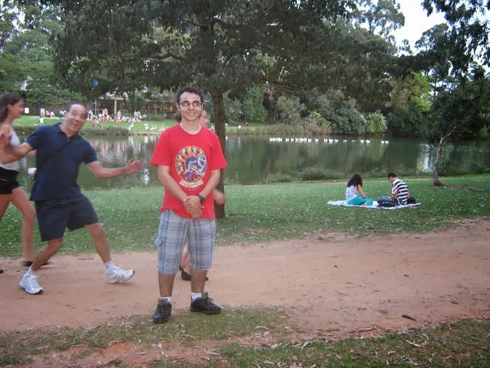 Turista no Ibirapuera