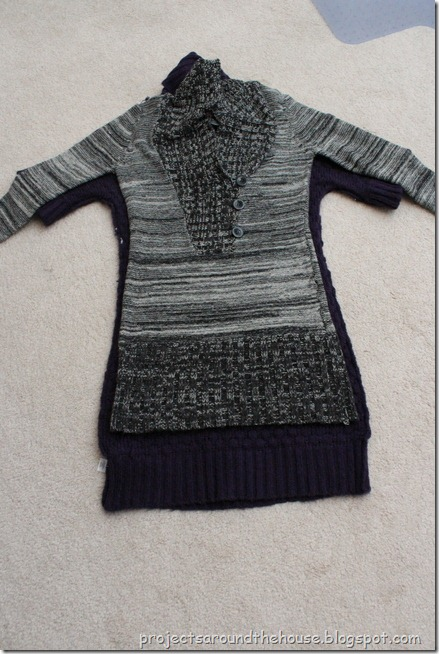 oversized to fitted sweater dress alteration