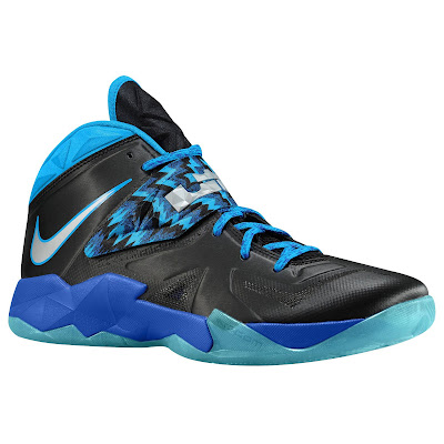 nike zoom soldier 7 gr black blue hero 1 05 eastbay LEBRONs Nike Zoom Soldier VII $135 Pack Available at Eastbay
