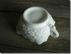 milk glass serving dish