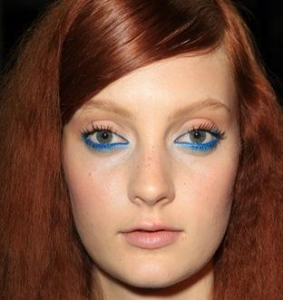 blue eyeliner 2013