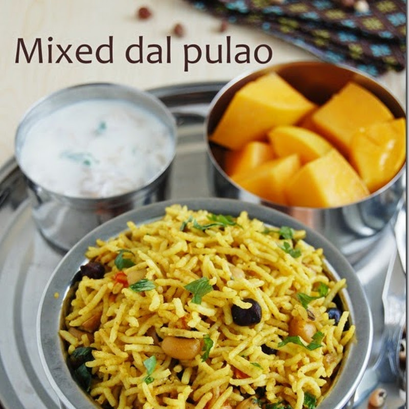 Mixed dal pulao / Mixed lentil rice