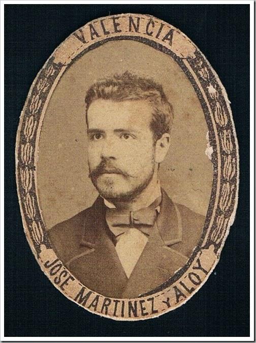 José Martínez Aloy. Ca. 1877