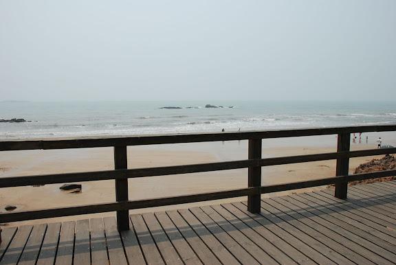 Qingdao - Plage shilaoren 石老人 - Pont de bois