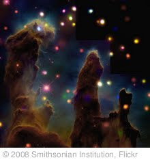 'The Eagle Nebula (M16): Peering Into the Pillars of Creation (A nearby star-forming region about 7,000 light years from Earth.)' photo (c) 2008, Smithsonian Institution - license: http://www.flickr.com/commons/usage/
