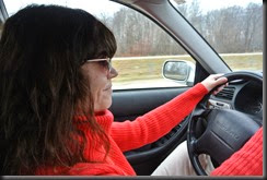 Cheryl Behind the wheel!