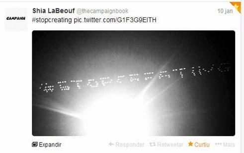 mensagem de Shia LaBeouf