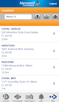 Screenshot of Mercantil Mobile