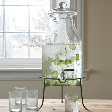 I love the beverage dispenser's pear shape. (sundancecatalog.com)