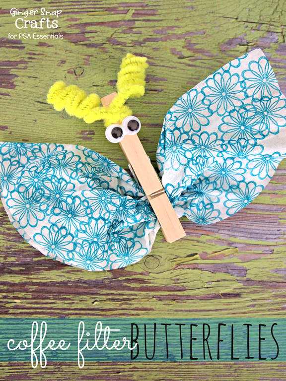 coffee filter butterflies from GingerSnapCrafts