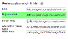 Imageshack doğrudan link