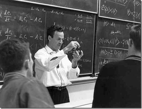 Richard Feynman with students