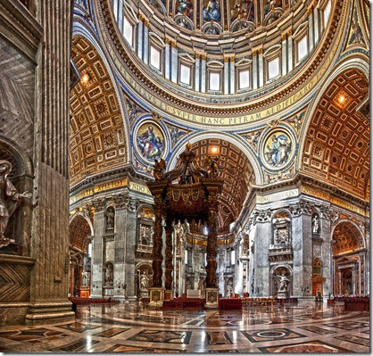 st peter basilica inside