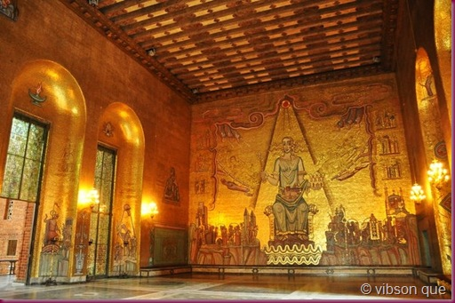 golden room at stockholm city hall