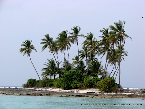 one of the many small islands near Kalpeni Island, Lakshadweep, India
