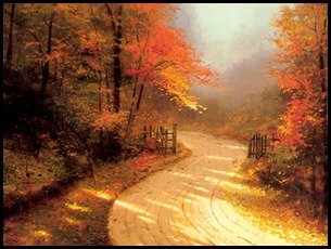 Thomas Kinkade-Autumn Lane