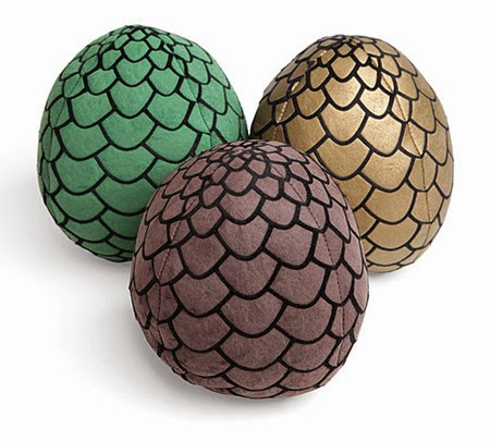 Game of Thrones Dragon Egg Plushies from ThinkGeek