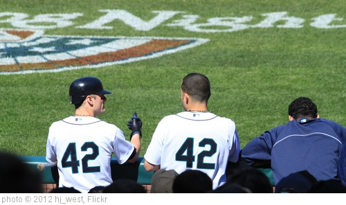 '#42 Brendan Ryan, #42 Jesus Montero' photo (c) 2012, hj_west - license: http://creativecommons.org/licenses/by-sa/2.0/