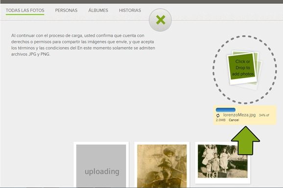 upload photo familysearch