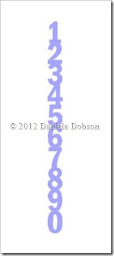 Numbers border by Daniela Dobson
