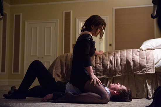Gina Carano and Michael Fassbender in Haywire