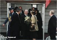 'Een heel mooi museum' is het compliment dat Beatrix maakt aan het adres van voorzitter Jan Lucas - Bron: uit het archief van Jan Lucas