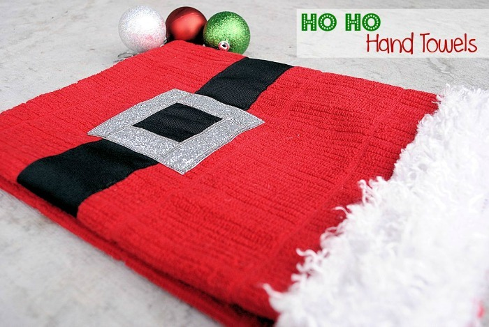 Ho Ho Hand Towels by Crazy Little Projects
