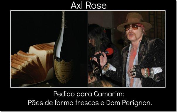 Axl Rose pedido