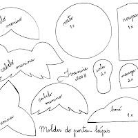 Moldes do porta-lápis (dia das crianças). Ver no Baú de Idéias.