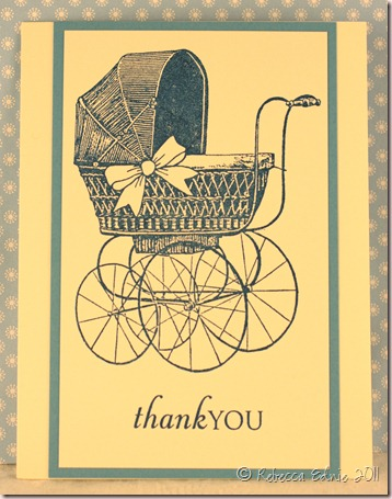 baby buggy card set card