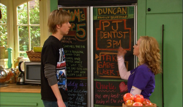 good luck charlie fridge
