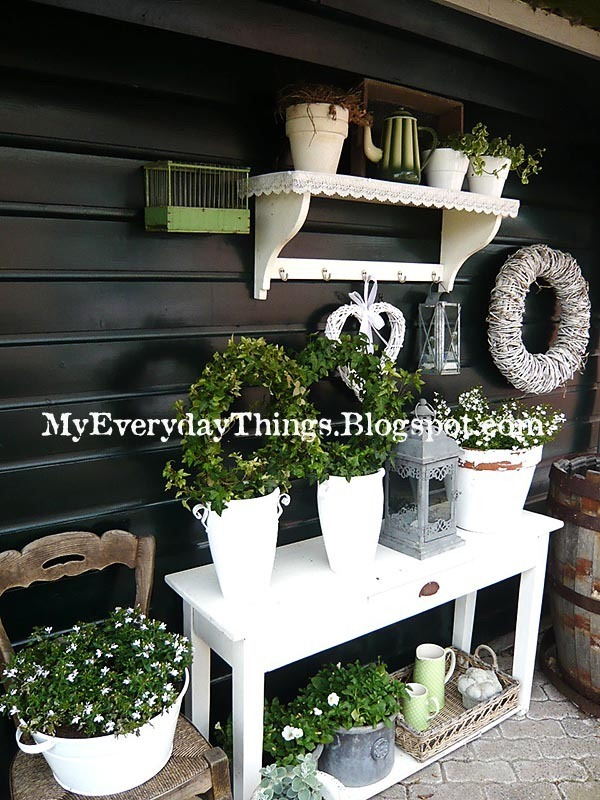 Summer Garden Decorations Cottage Wreath