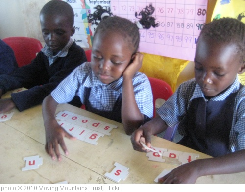 'Teaching spelling, Ulamba Orphanage, Nr Siaya, W. Kenya' photo (c) 2010, Moving Mountains Trust - license: http://creativecommons.org/licenses/by/2.0/