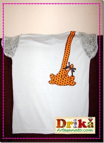 Girafa em Patch aplique costas