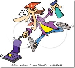 1048444-Royalty-Free-RF-Clip-Art-Illustration-Of-A-Cartoon-Spring-Cleaning-Woman-Vacuuming