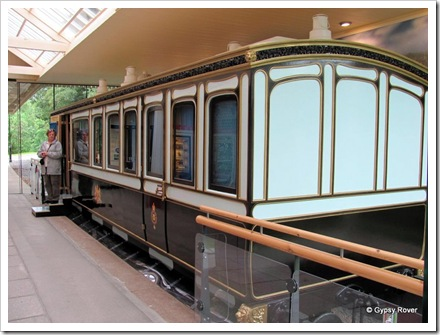 The LNWR Royal carriage at Ballater Station museum.